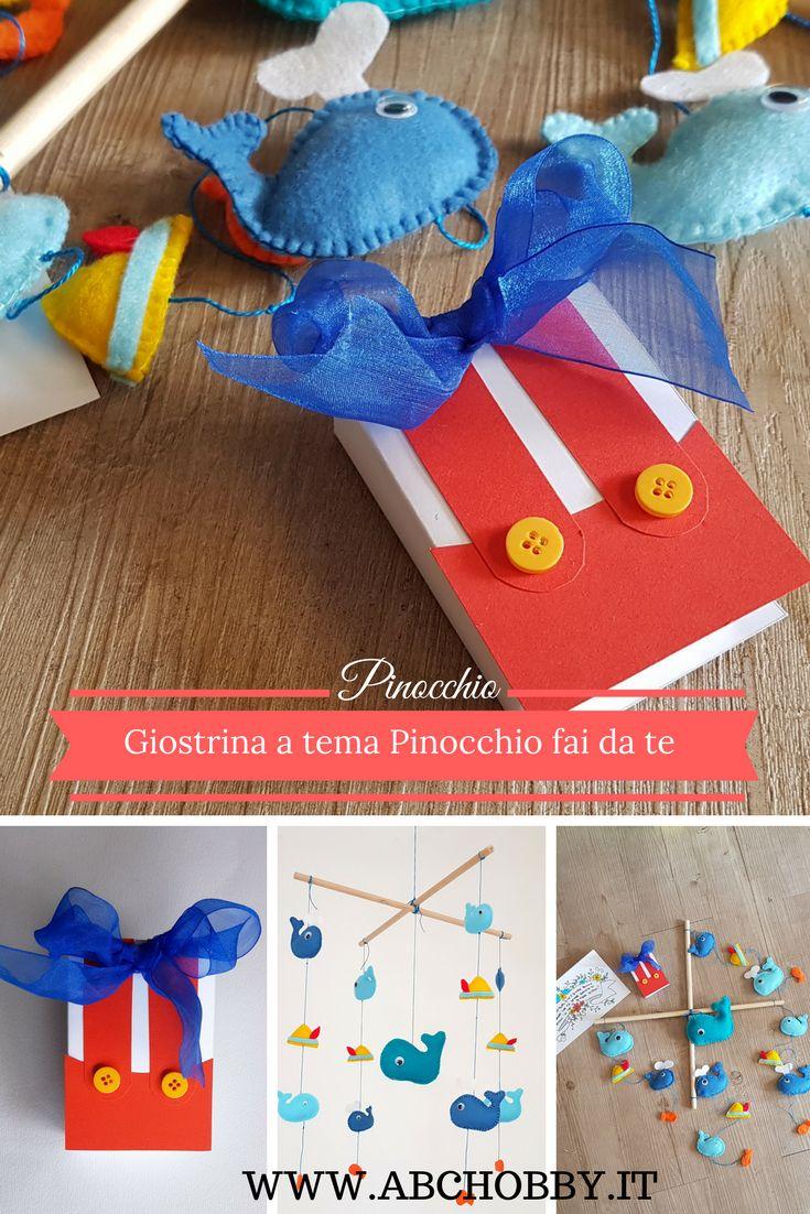 Party a tema - Nascita con Pinocchio  Realizzare e decorare una scatolina a forma di libro da usare come bomboniera, ispirata alla favola di Pinocchio.