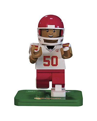 NFL GEN3 Kansas City Chiefs Justin Houston Limited Edition Minifigures, Red, Small