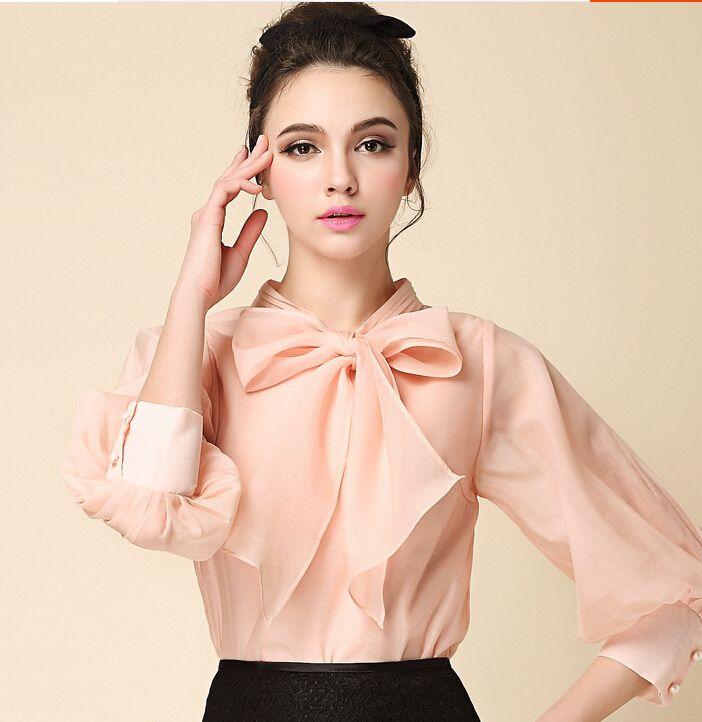Mujer blusas elegantes 2015 otoño nueva moda femenina collar blusa camisas sport negro blanco rosa manga de la linterna tops blusas de mujer(China (Mainland))