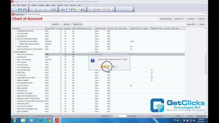 Chapter 3  Chart Of Account - Master Accounting Software