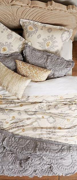 Bedding Basics // Pretty Palettes >> #anthrofave