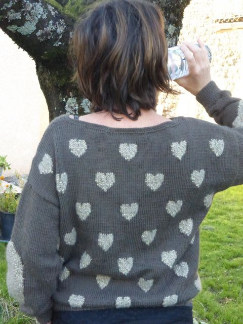 Mon pull aux coeurs | rose and mine
