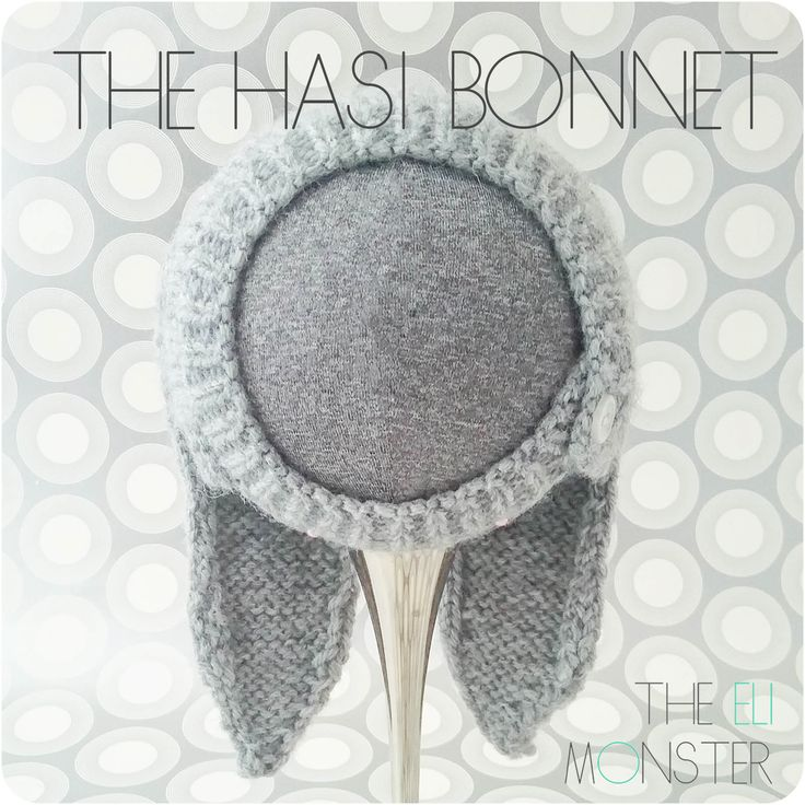 The Hasi Bonnet is a wonderful newborn bonnet with a buttoning chin strap and 2 bunny ears.  Unique shaping creates a seamless bonnet that looks as good from behind as it does from the front.