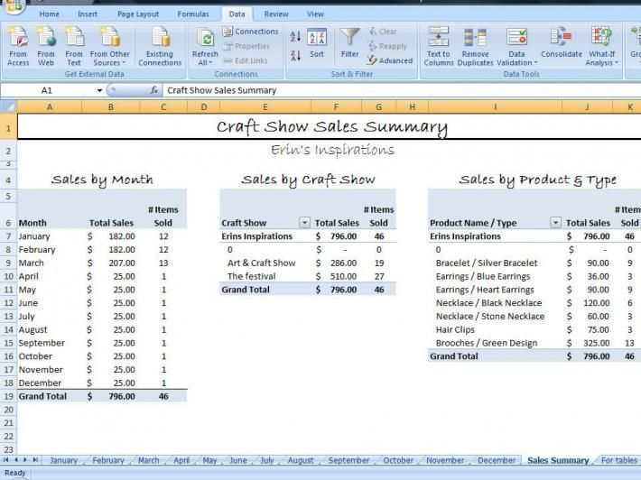 Craft Business Accounting Spreadsheet Business Templates