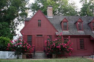 Colonial Williamsburg. I'm becoming a huge fan of painting houses all one color.