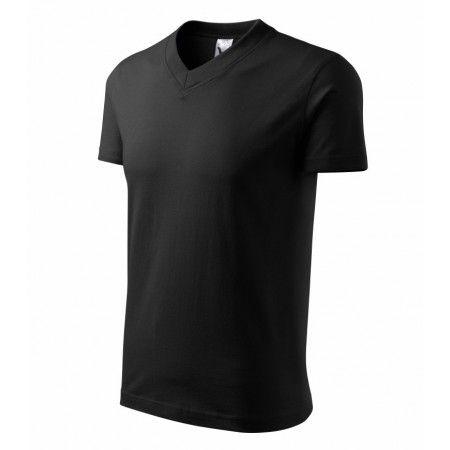 Unisex T-shirt V-hals Unisex T-shirt van een medium gewicht. Geschikt om te bedrukken of te borduren. V-hals en stabiliserende schouder tape. Alle naden zijn dubbel gestikt. Uitstekende stof en stiksel kwaliteit. Specificatie: 160 g / m, 2100% katoen (kleur 03-3% viscose), Single Jersey Maat: S, M, L, XL, XXL, XXXL