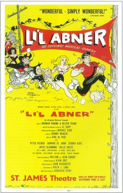 Li'l Abner 14x22 Broadway Show Poster (1956)