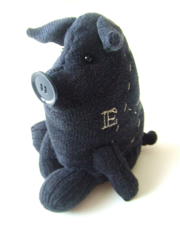 Stuffed pig from a sock! We love how polished this one is!