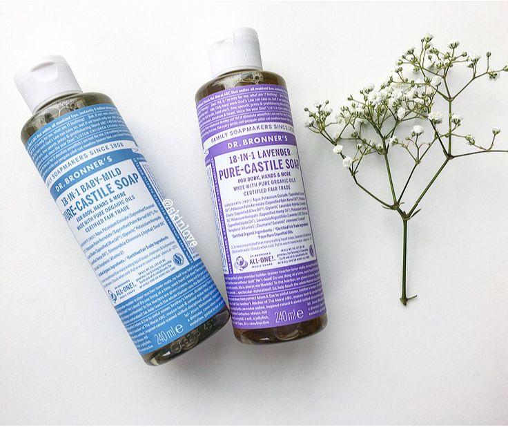 Fair Trade, veganske, økologiske såper fra Dr. Bronner's i dusjen eller ved vasken <3