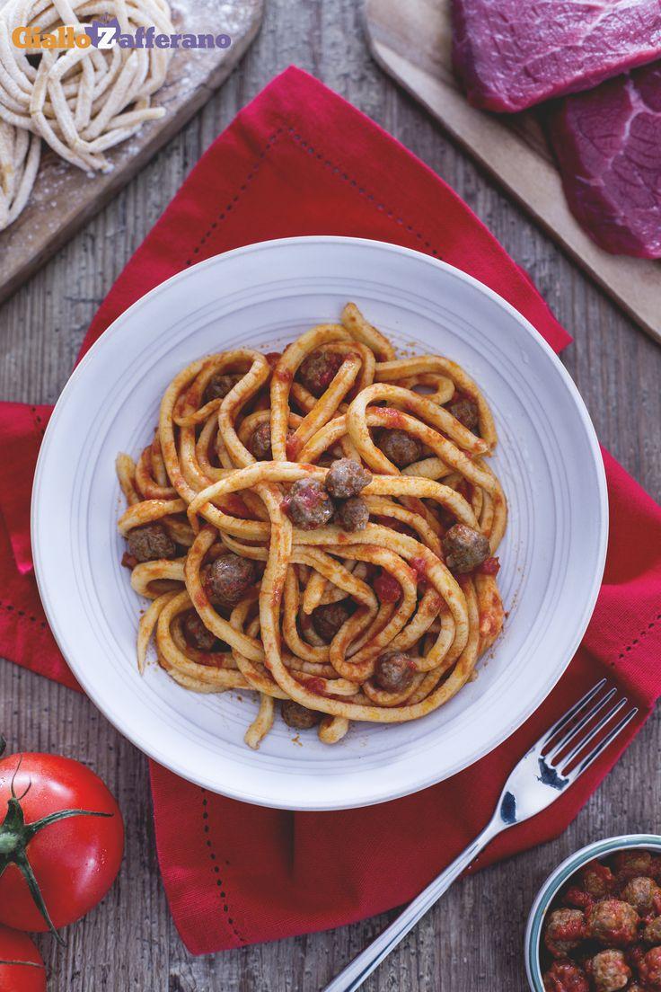Gli SPAGHETTI ALLA CHITARRA CON LE PALLOTTINE (spaghetti alla chitarra with tiny…