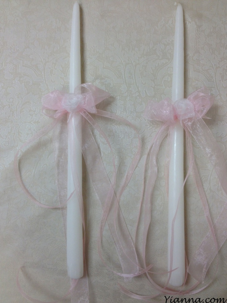 """Matching 15""""($8) and 18"""" ($10) """"French Scroll"""" candles. Custom Colors available."""