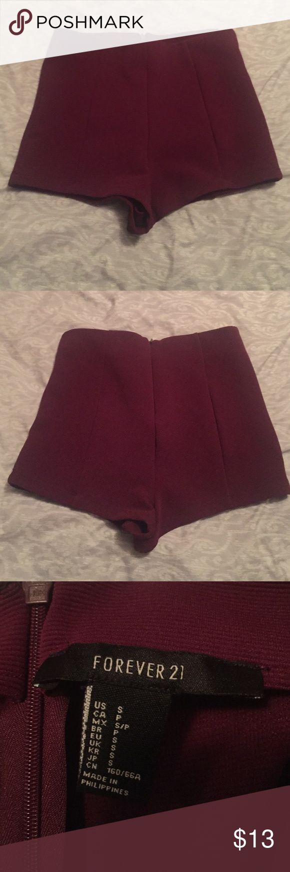 Forever 21 dress shorts burgundy shorts. stretchy material. Forever 21 Shorts