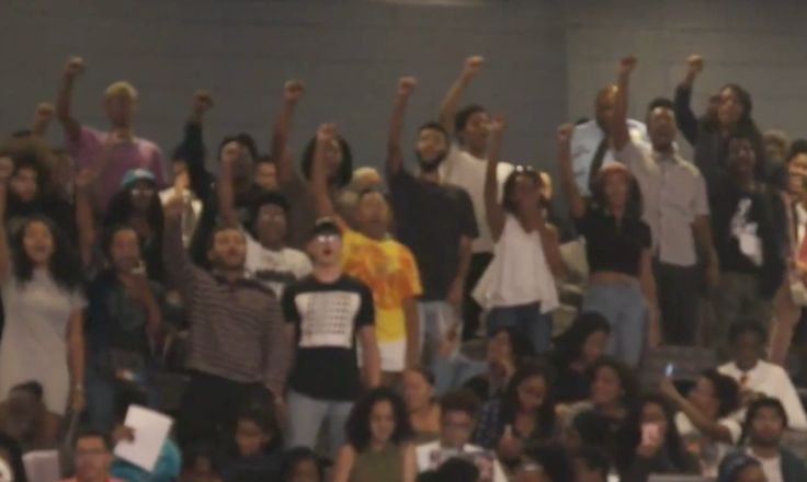 Howard University Students Protest James Comey at Opening Sesquicentennial Convocation