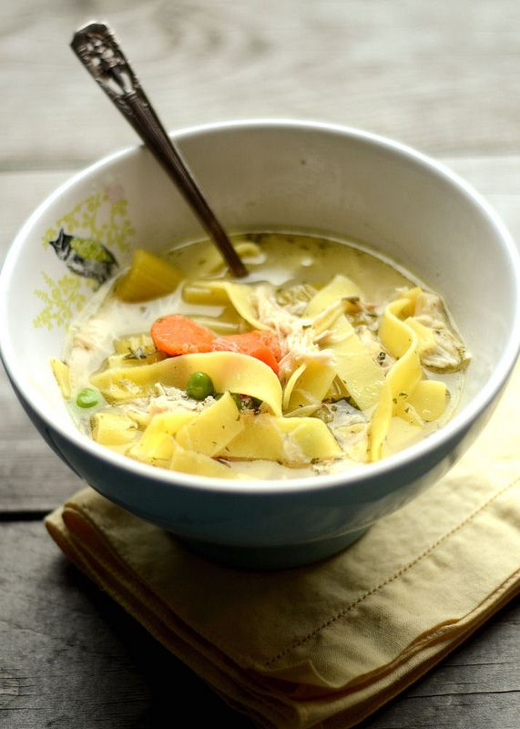 Chicken Noodle Soup, the perfect remedy for when you can't get Fandango's theme song out of your head.