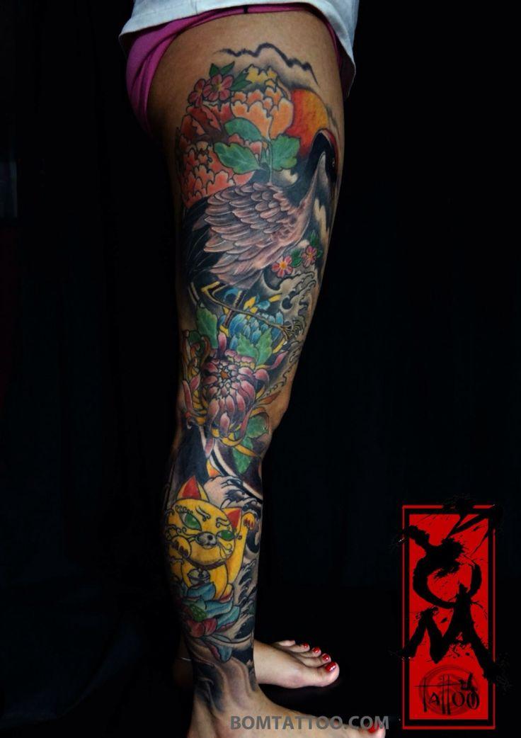 Full leg tattoo by bom - da nang city - vietnam ...