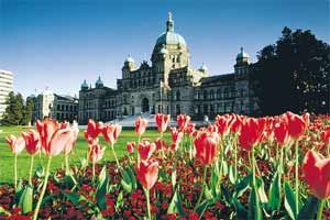 Parliament Building. Victoria is the capital of British Columbia.