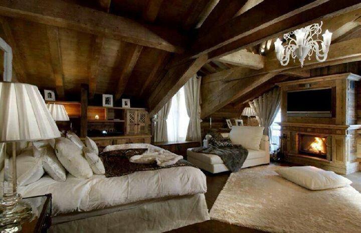 Master bedroom log cabin dream home pinterest for Case in stile ranch in stile log cabin
