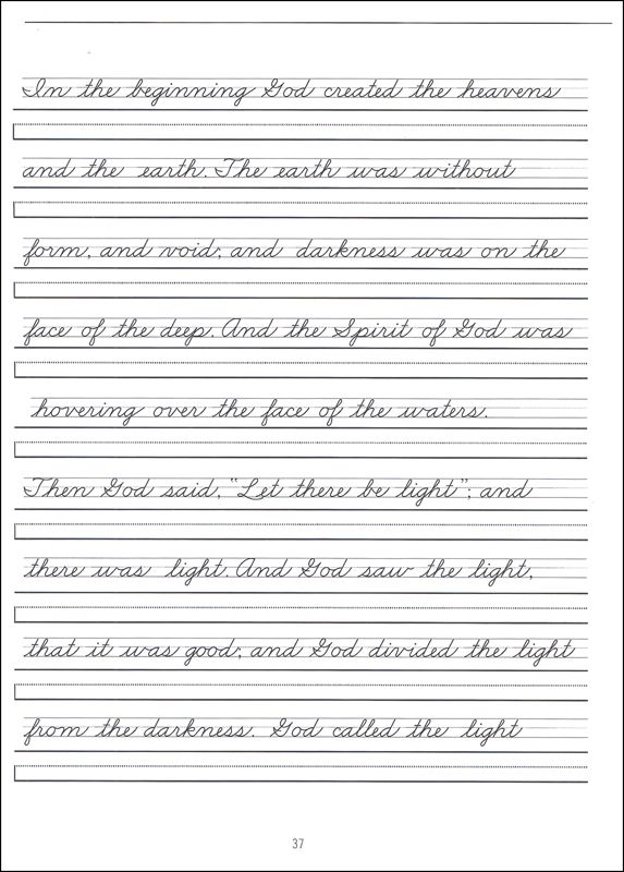 cursive writing pages