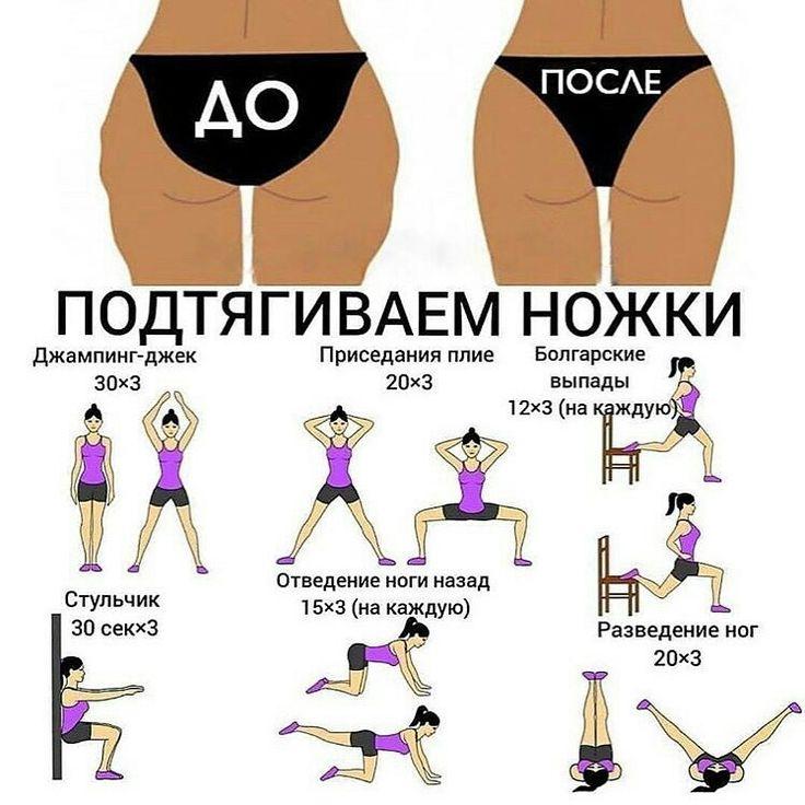 Упражнения чтобы похудела жопа и ляшки
