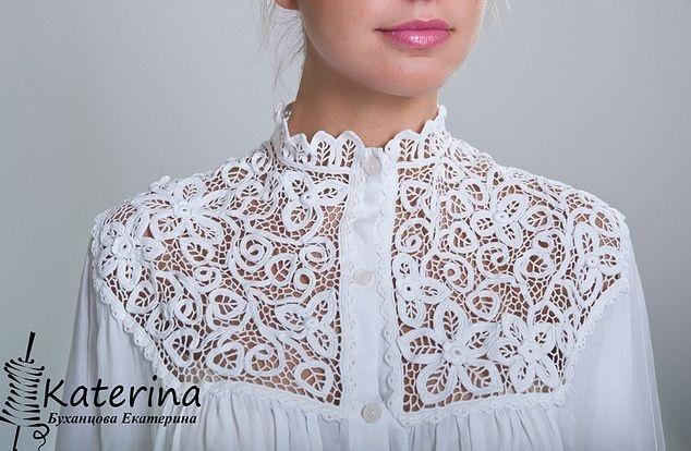 Irish crochet blouse