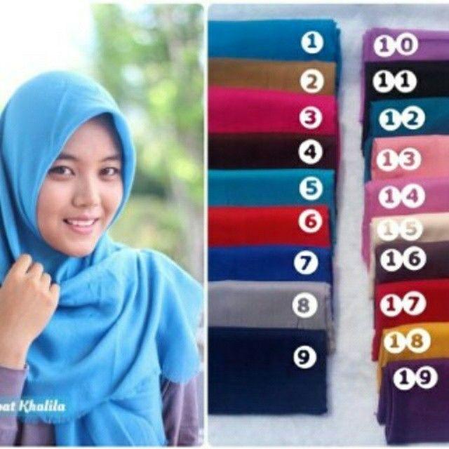 Hijab khalila matterial linen price 55rb