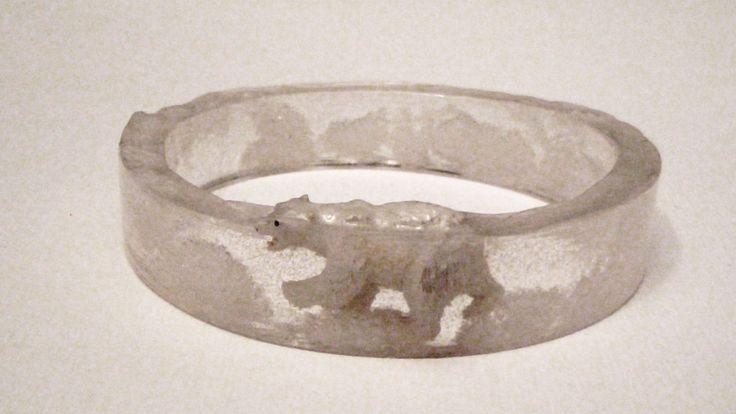Resin Polar Bear Bangle Bracelet. $14.00, via Etsy.