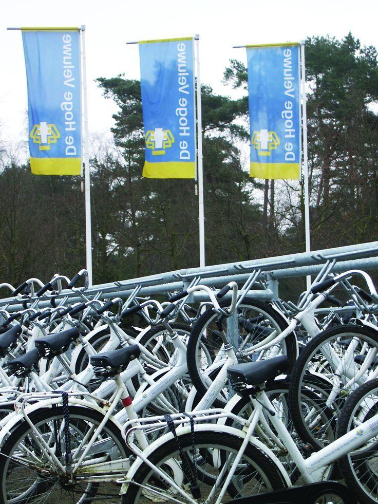 The white #bikes of the Hoge Veluwe National Park. #Holland