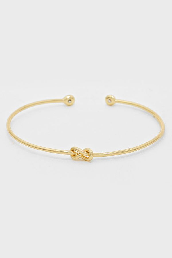 CZ Infinity Knot Bracelet in Gold on Emma Stine Limited