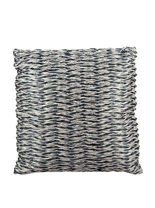 Joseph Abboud Multi Braid Pillow, Navy/Silver, 20