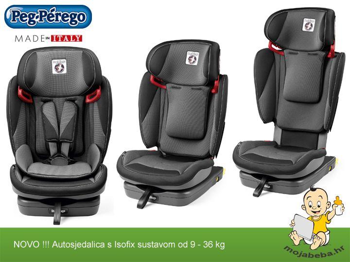 Nova Peg Perego autosjedalica namjenjena za dijete od godinu dana do 12 godina starosti