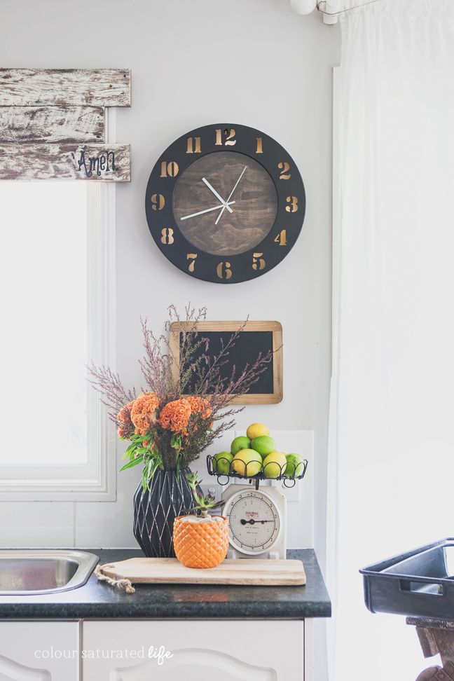 Clock Makeover | Colour Saturated Life