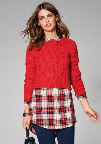 Krátky pulóver s rozparkami #ModinoSK #teen
