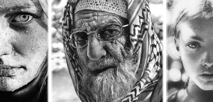 Υπερρεαλιστικά πορτραίτα σχεδιασμένα με μολύβι από την Olga Larionova.