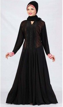 Abaya Collection and Burqa Hijab Islamic in Lycra Black | FH525379517 #trendy, #highquality, #islamic, #clothing, #women, #hijab, #fashion, #dresses, #jilbabs, #hijabs, #shawls, #islamic, #muslim, #burqa, #niqab, #wedding, #store, #boutique, #dubai, #pakistani, #mordern, #heenastyle, #readymade, #black, #color, @heenastyle