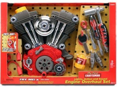 MY FIRST CRAFTSMAN TOY V TWIN MOTOR OVERHAUL PLAY SET CRUISER HARLEY My First Craftsman http://www.amazon.com/dp/B002SE5ZE2/ref=cm_sw_r_pi_dp_bhYdub15F97PD
