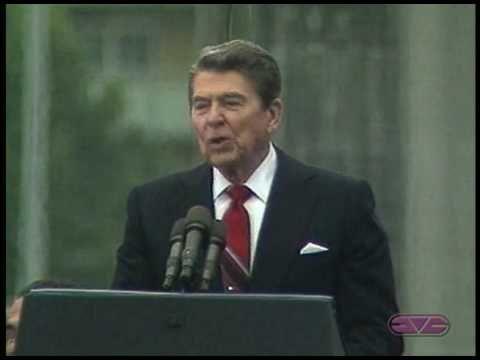 "President Ronald Reagan ""Tear Down This Wall"" Speech at Berlin Wall."