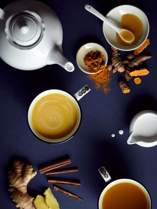 It's Health O'Clock: Fresh Turmeric Tea If you aren't already familiar with ginger's... - blog | anthropologie