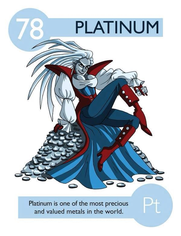 19 best science images on pinterest periodic table school and 112 cartoon elements make learning the periodic table fun platinum urtaz Image collections