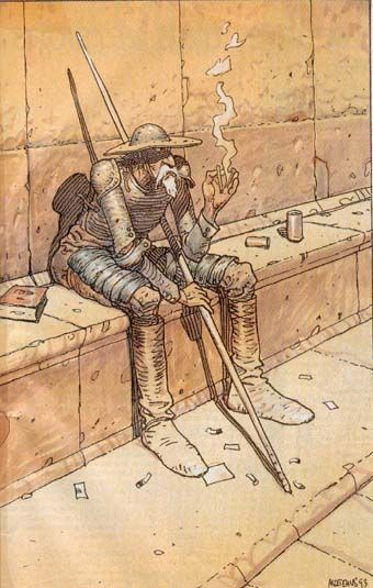 'Don Quijote' was one of my favorite readings during my college studies - Moebius  (This story made me feel like I could do anything. Nothing was impossible!)