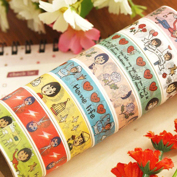 Дешевое Многоцветной измельченной бумаги ленты офис клейкой ленты, Купить Качество Канцелярский скотч непосредственно из китайских фирмах-поставщиках:  ДЕТАЛИ ПРОДУКТА                         Корея канцелярские 6191 многоцветные