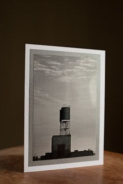 Card - Greeting - Photography Blank 5 x 7 water tower black and white $5.00