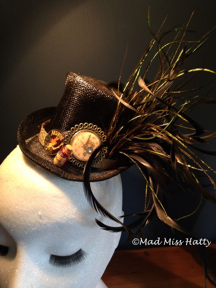 Absinthe Fairy Top Hat by Mad Miss Hatty perfect fascinator for Halloween ❤️