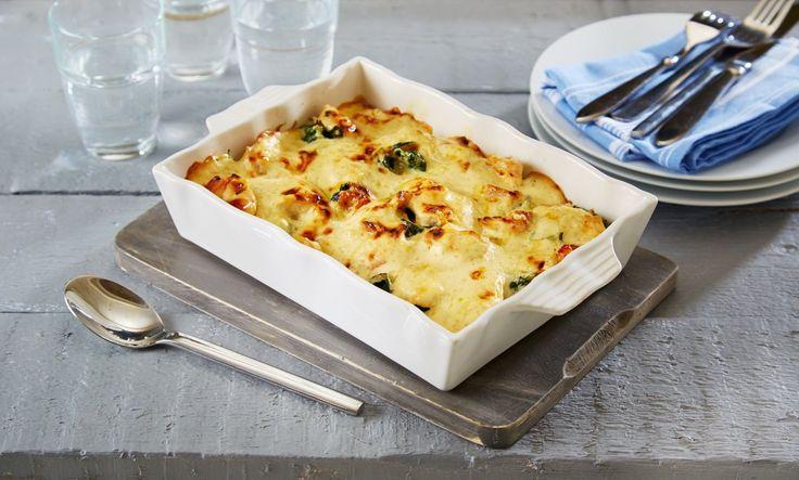 Her har du en oppskrift på en lekker og god lasagne laget med kylling, spinat og en frisk saus med eplejuice.
