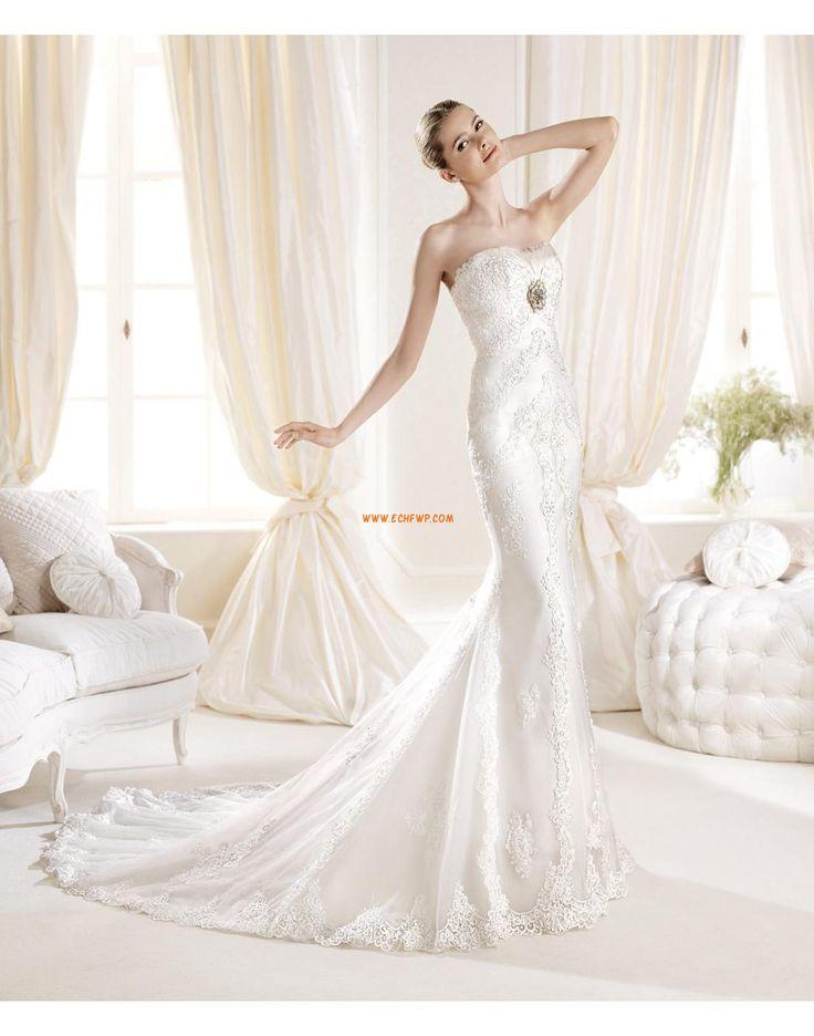 Eglise Col en cœur Hiver Robes de mariée de luxe