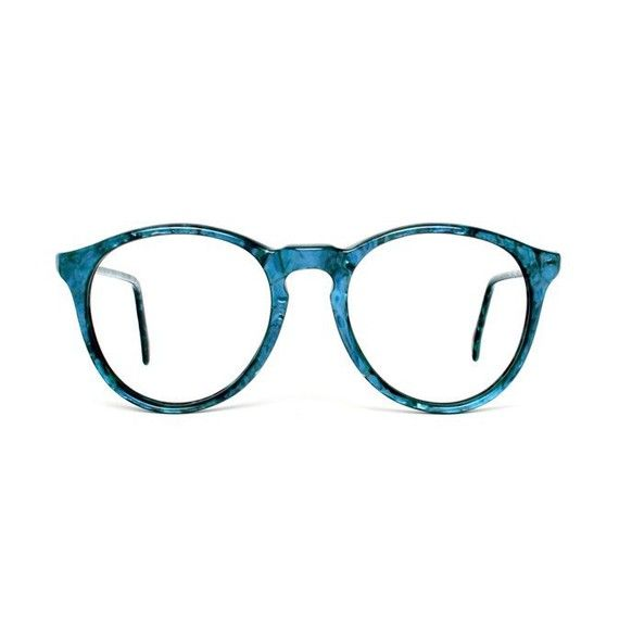 Turquoise Blue Round Vintage Eyeglasses - Turquesa glasses - 1980s - NOS / Deadstock
