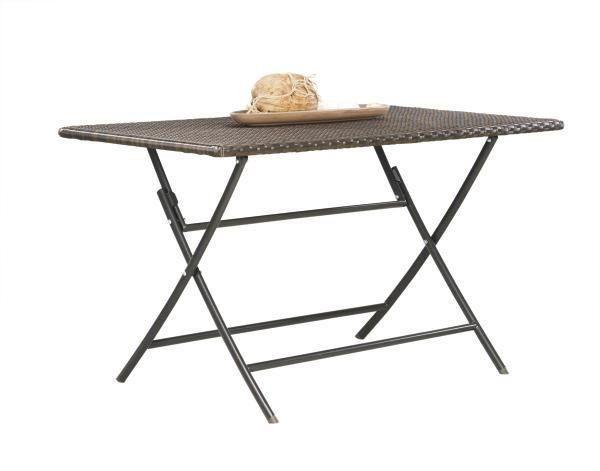 Gartenklapptisch Metall Kunststoff Braun Sitzgruppe Tisch Und
