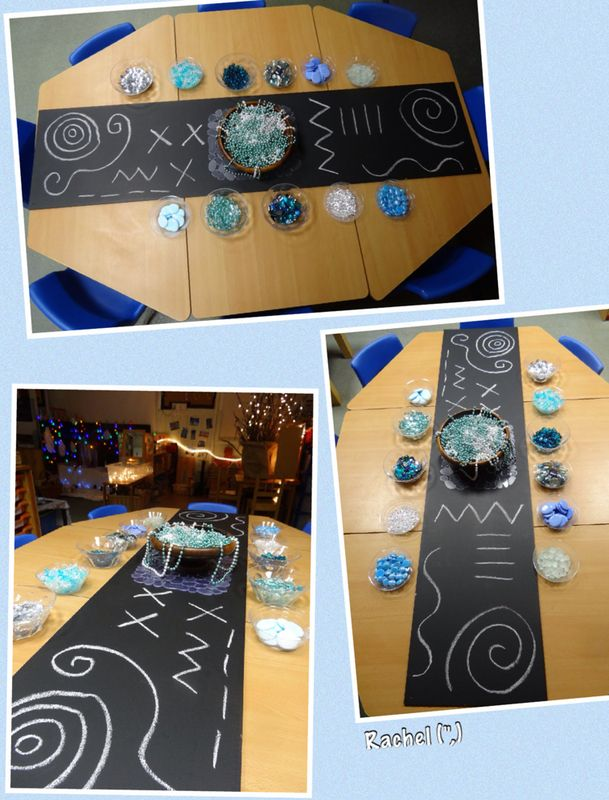 """Decorating line designs with frosty colours - from Rachel ("""",)"""
