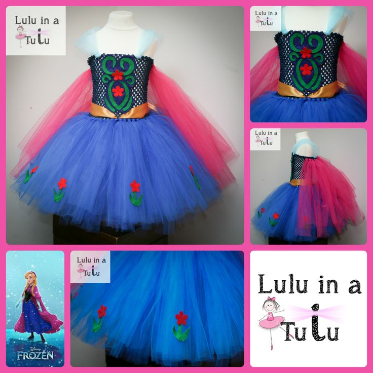 Anna from Disney film Frozen inspired tutu dress  For more designs visit https://www.facebook.com/LuluinaTutu