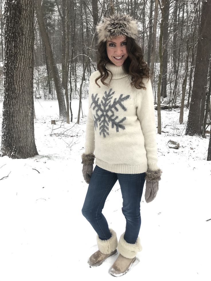 Gap Wool Snowflake Sweater with Bailey Button Sand Uggs Banana Republic skinny jeans ivory sweater grey snowflake - From the Family With Love From the Closet