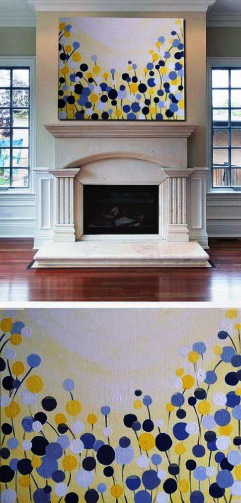 Beautiful DIY Canvas Wall Art Idea